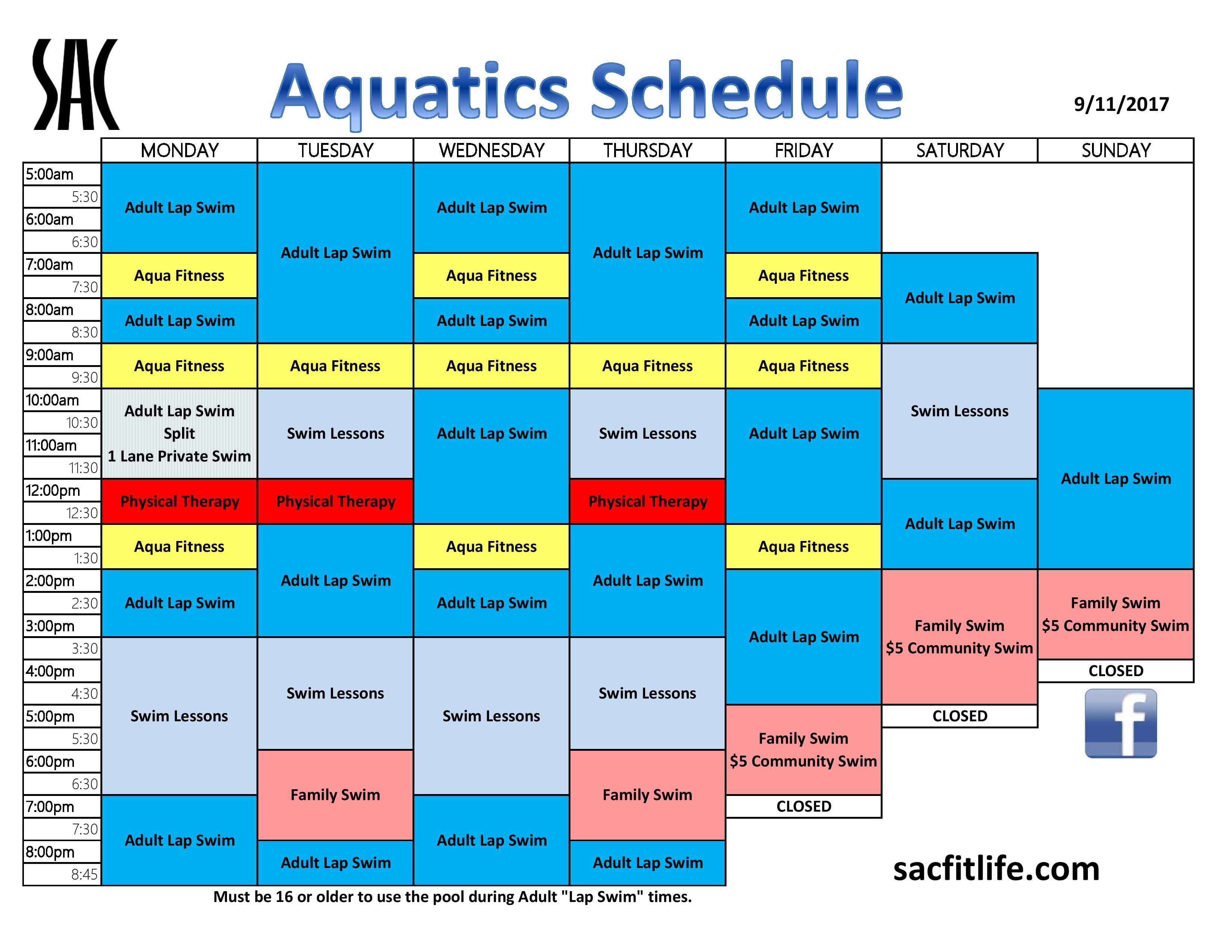 pool schedule stillaguamish athletic club